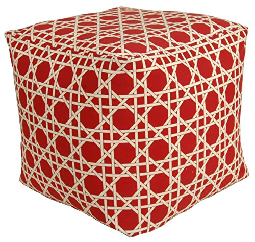 Codson Park 81155 Kane Red Outdoor/Indoor Pouf, 18-Inch by Codson Park