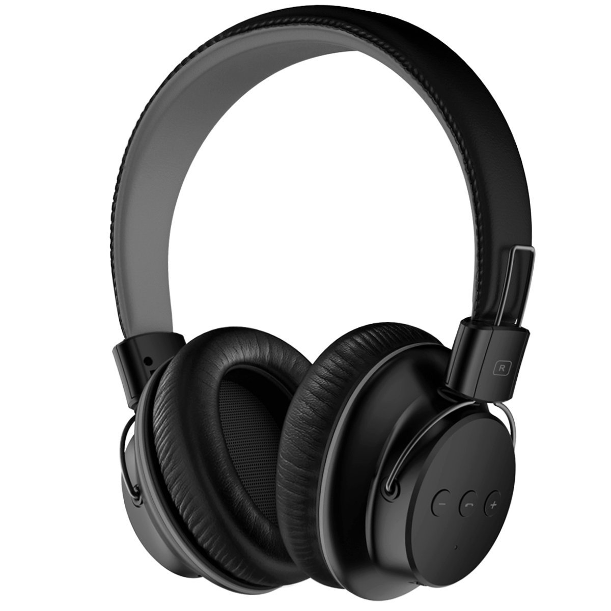 Mpow H1 Bluetooth Headphones Over Ear Lightweight, Comfortable for Prolonged Wearing, Hi-Fi Stereo Wireless Headphones, Foldable Headset w/Built-in Mic and Wired Mode for PC/Cell Phones by Mpow