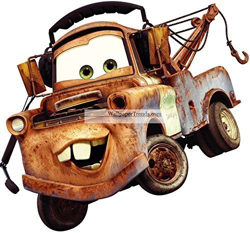 11 Inch TOW Mater Truck Disney Pixar Cars 2 Movie Removable Wall Decal Sticker Art Home Decor