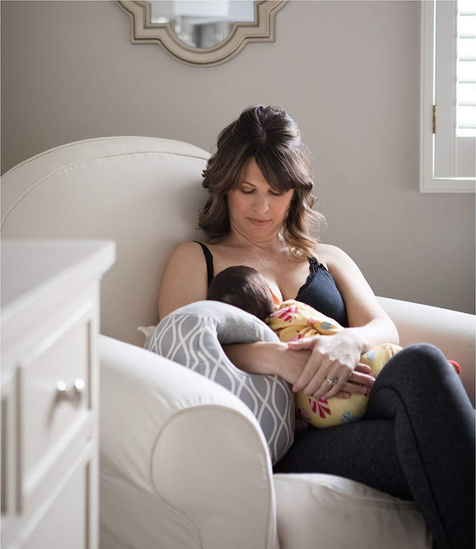 Almohada de lactancia de viaje Coj/ín de brazo para lactancia materna o biber/ón Almohada de lactancia infantil Regalo de la ducha del beb/é Almohada del brazo de lactancia materna