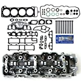 #1: CNS 1201-LHSHBSI New Complete Cylinder Head (Loaded), Head Gasket Set, Head Bolts, & RTV Silicone for 1985-95 Toyota Pickup 4Runner Celica 2.4L 22RE 22REC