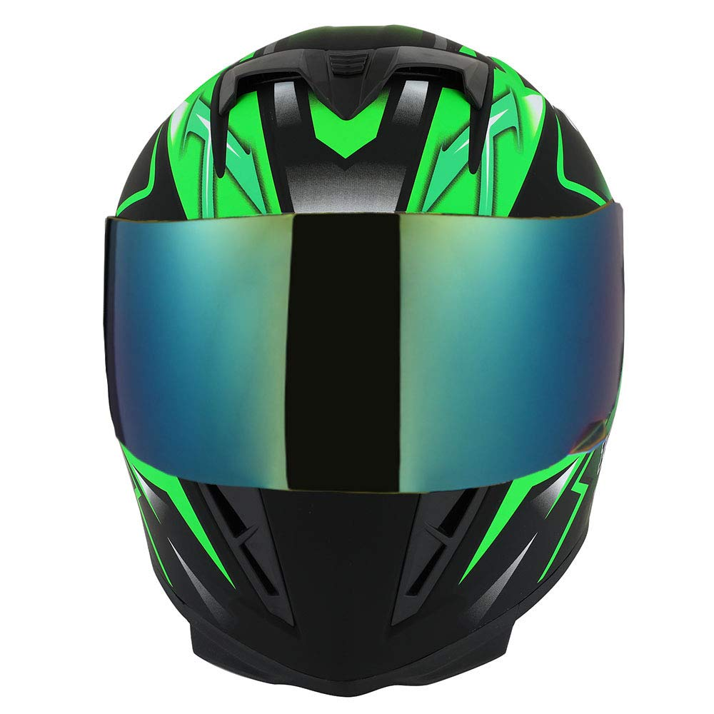 One Extra Clear Shield Size Large 57-58 CM,22.4//22.8 Inch 1STorm Motorcycle Full Face Helmet Star King Matt Blue