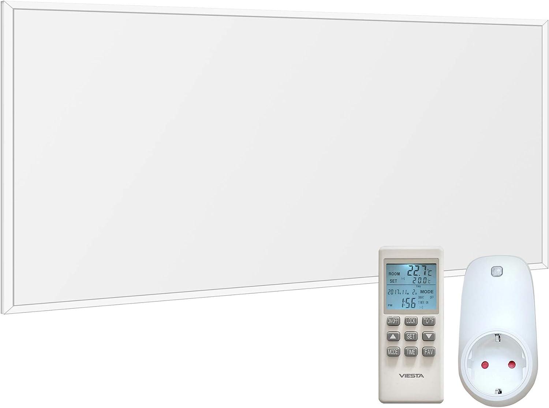 derni/ère Technologie Panneau radiateur Ultra Mince Chauffage Mural Blanc VIESTA H700 Panneau de Chauffage Infrarouge Crystal Carbon 700 Watts TH12 Thermostat