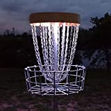 Set of 2 LED Lights for Disc Golf Basket, Multi Colored, Remote Controlled, Waterproof, Includes Batteries And Velcro To Attach (Basket Not Included)