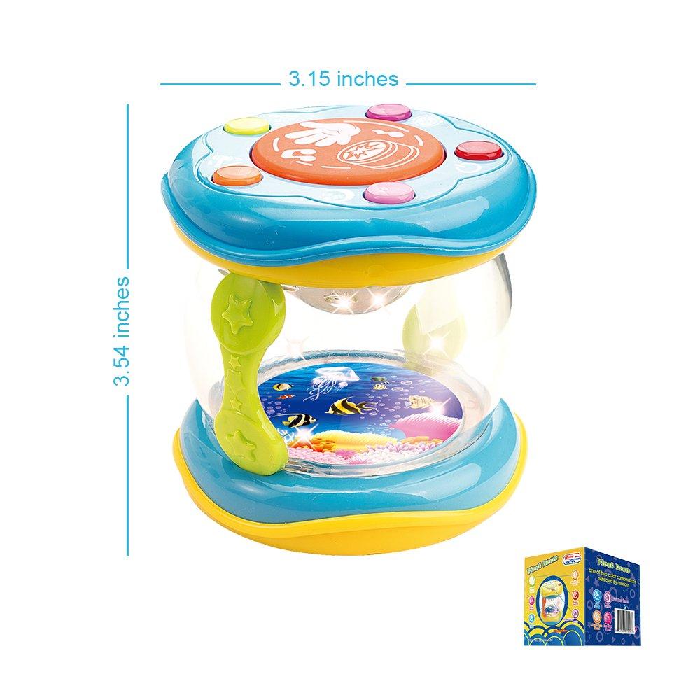 Il Mio Primissimo Tamburo, Giocattolo Musicale per Bambini. 9 Mesi, 1 Anno, 2,3 Anni www Limited