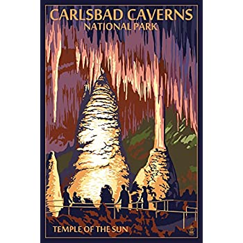 Carlsbad Caverns National Park, New Mexico   Temple Of The Sun (12x18  Collectible Art Print, Wall Decor Travel Poster)