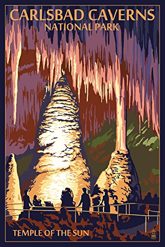 Carlsbad Caverns National Park, New Mexico - Temple of the Sun Art Print, Wall