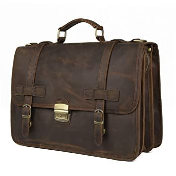 "ON SALE 70/% A+ COW hide Fast Shipping 15/"" Laptop Tablet Leather Bag TAN BROWN"