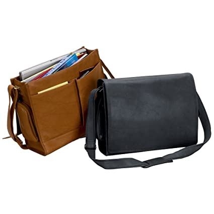 c0031c0dfe0d Image Unavailable. Image not available for. Color  THE CANCUN 15 quot  LAPTOP  LEATHER COMPUTER SLING BAG ...