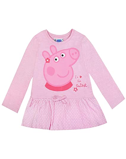 Peppa Pig - Set Leggings y Camiseta Modelo The Cutest para niñas: Amazon.es: Ropa y accesorios