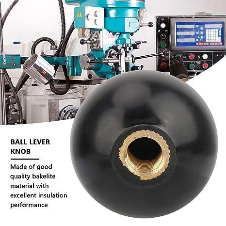 Perilla de bola roscada 5Pcs M10x35 Perilla de palanca de baquelita de bola redonda negra Operaci/ón de la m/áquina Manijas de bola Reemplazo de la m/áquina herramienta
