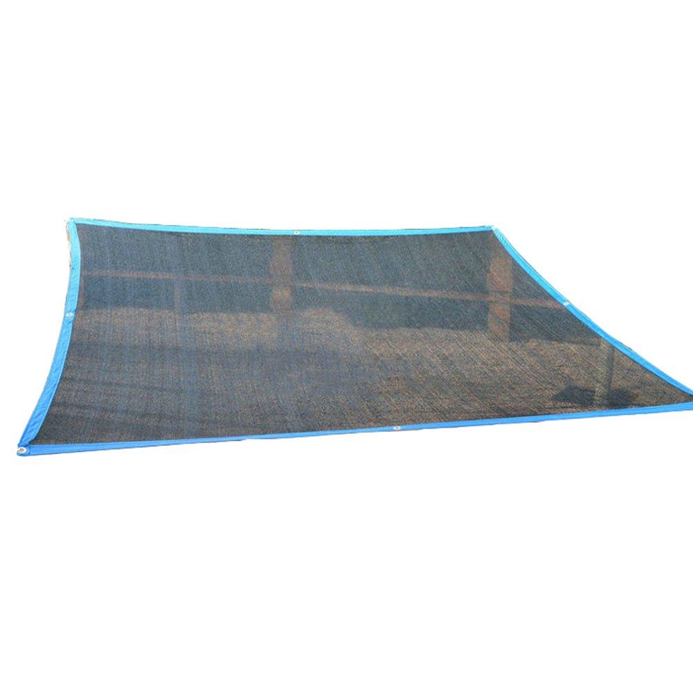 YANZHEN Rete Parasole Serre Antivento   Protezione Solare Tettoia per Tettoia per Il Trasporto in Serra Criptato con Fori in Metallo Polietilene, Taglia 23 (colore   nero, Dimensioni   5x8m)