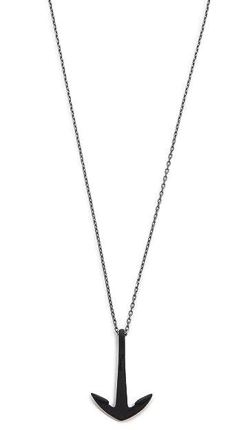 b6b2f00ee66a1 Miansai Men s Anchor Necklace Noir