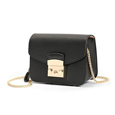 dd09085bb4 Actlure Genuine Cow Leather Metropolis Mini Shoulder Purese Crossbody Bag ( Black)