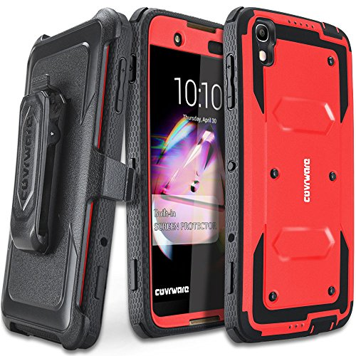 Armor Full Body Protector (COVRWARE Alcatel Idol 4 [Aegis Series] with Built-in [Screen Protector] Heavy Duty Full-Body Rugged Holster Armor Case [Belt Swivel Clip][Kickstand] For Alcatel OneTouch Idol 4 / Nitro 4 - Red)