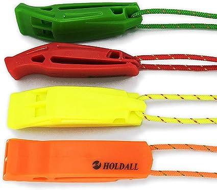 100 Pack Orange en Plastique de Sécurité Sifflet avec Cordon pour bateaux canot de SECOURS