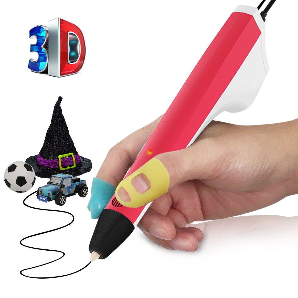 3D Stift,THZY 3D-Druckstift 3D-Doodler-Zeichenstift mit 2 frei 1,75 mm PCL Faden, Weihnachtsgeschenke und Spielzeug fü r Kinder und Erwachsene (weiß )