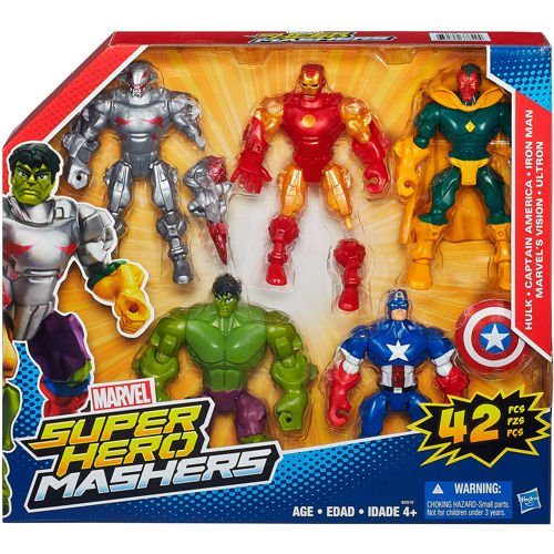 Hasbro Marvel Avengers Super Hero Mashers 5 pack (Super Heroes Avengers)