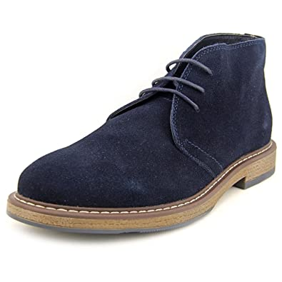 d3285ea64416c8 Amazon.com | JOSEPH ABBOUD Thomas Chukka Boot Navy | Shoes