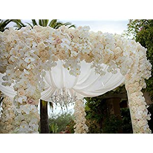 Felice Arts Artificial Flowers 6.6ft 32 Heads Butterfly Orchid Home Decor Fake Flower for Wedding Home Office Party Hotel Restaurant 4