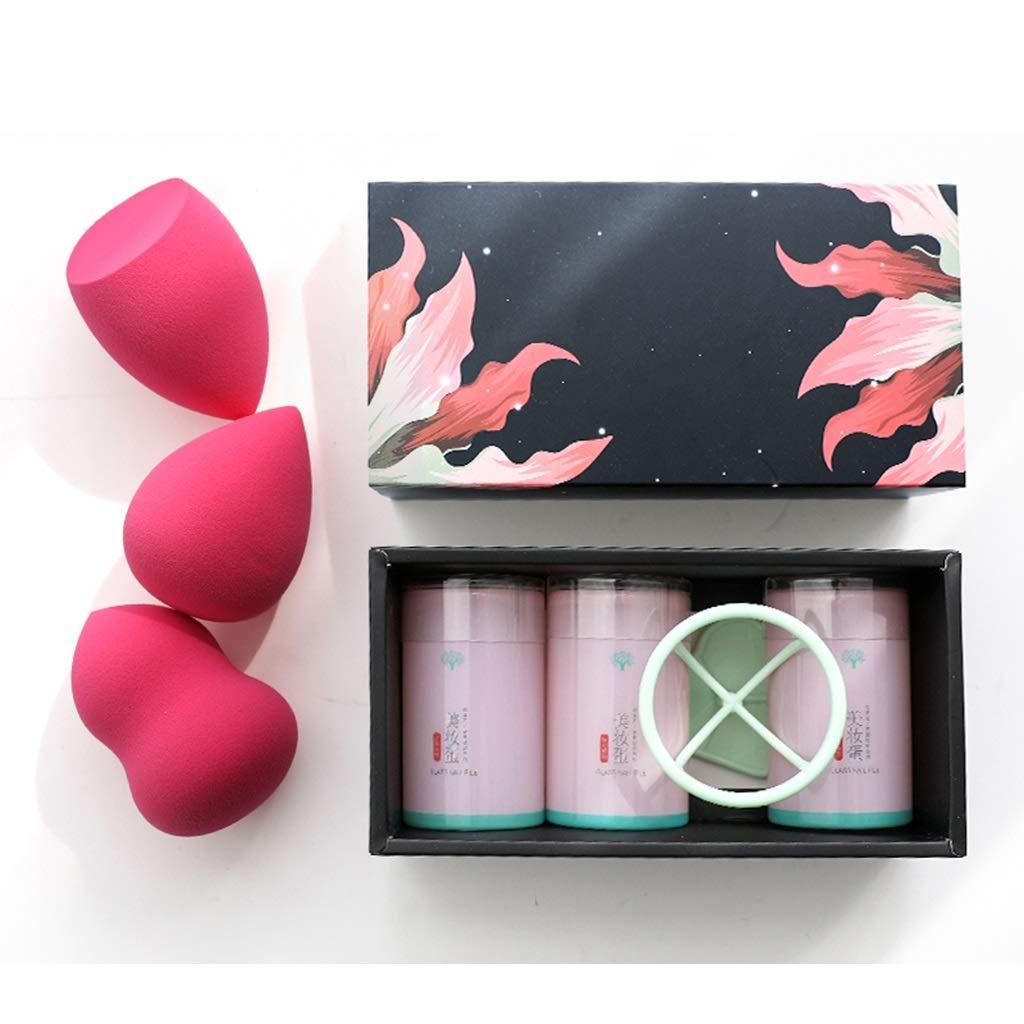 M Home Esponja De Maquillaje Profesional De 3 Pzs. De Maquillaje De Licuadora para Maquillaje En Polvo De Crema Líquida (Color : Rosa roja): Amazon.es: ...