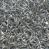 5000 1/4'' 18g Bright Aluminum Jump Rings