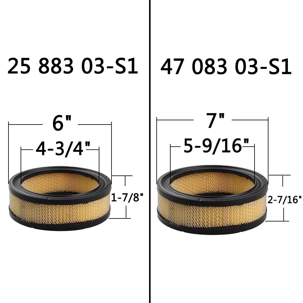 Panari 47 883 03-S1 Air Filter + Oil / Fuel Filter Spark ... on
