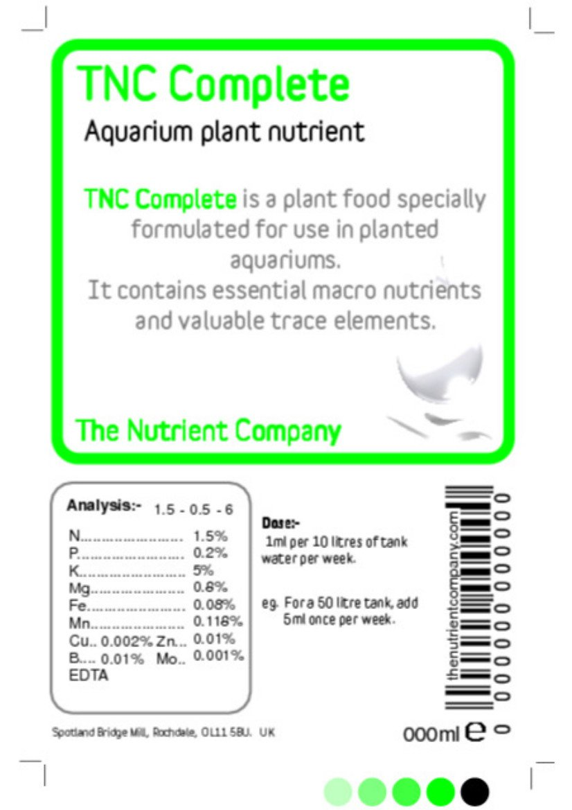 TNC Complete - Abono acuario / Acuático Planta Fertilizante (1000ml): Amazon.es: Jardín