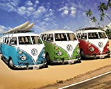 Fit You Vw Campers Bus At Sea Beach Art Silk Poster Lanscape Picture For Wall Decor 01