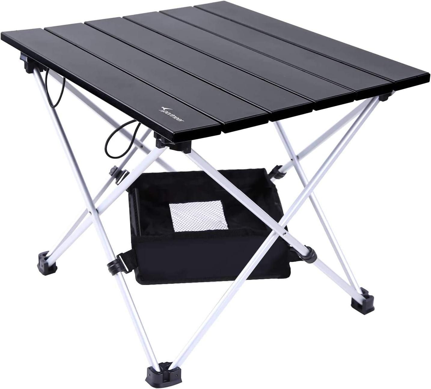 Mesa Plegable, Sportneer Portatiles Plegable Ultraligero Mesa de Camping con Bolsa de Transporte y Malla de Almacenamiento, para al Aire Libre, ...