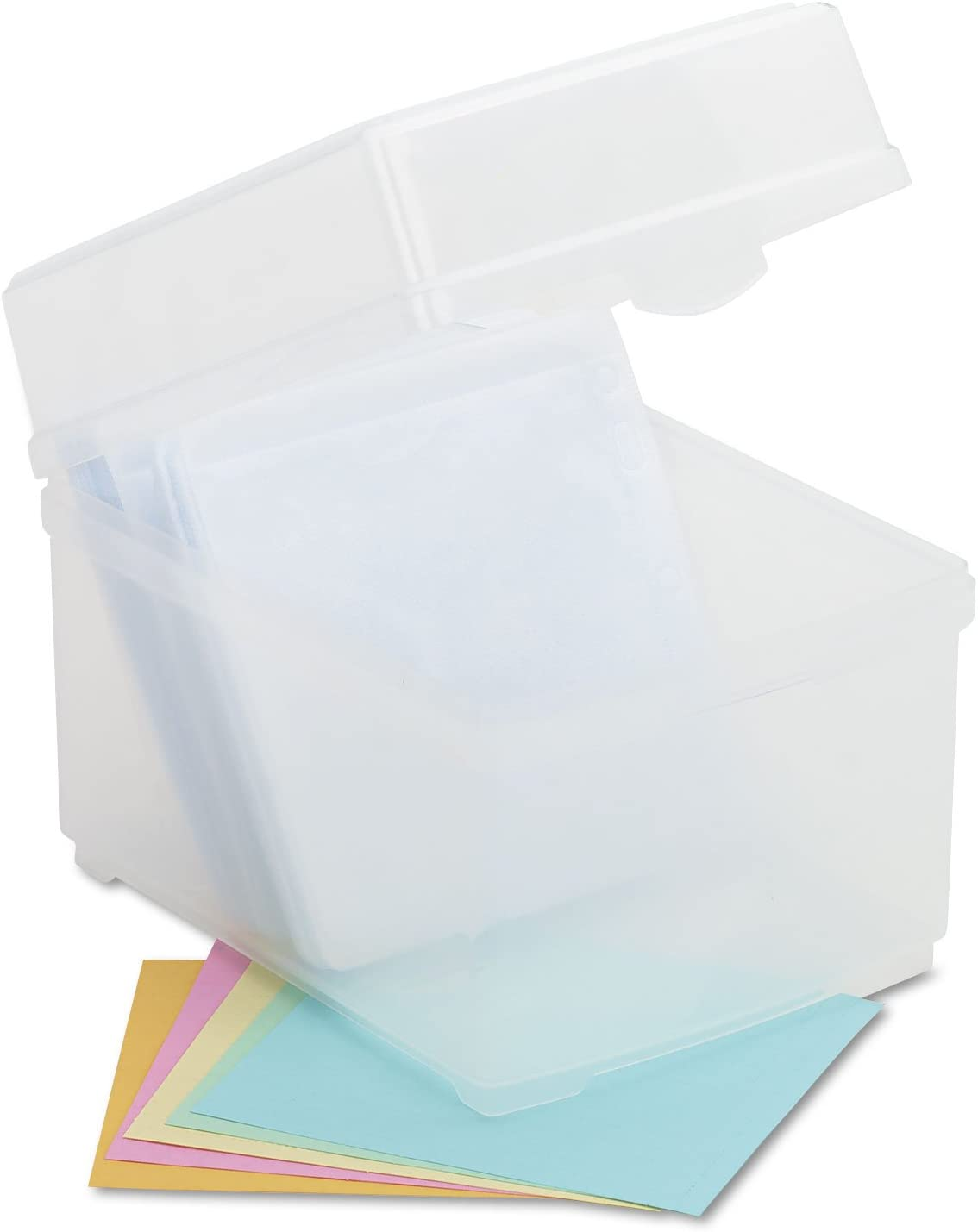 Innovera 39400 CD//DVD Storage Box Holds 100 Discs Clear