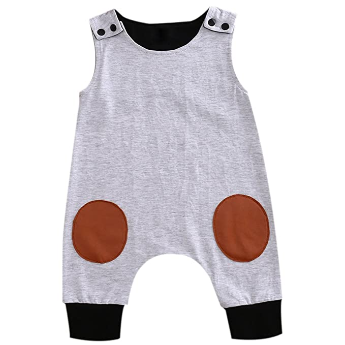 b234e2c83 Flower Tiger Newborn Baby Boy Organic Harem Romper Round Sewing Sleeveless  Jumpsuit Button Clothes: Amazon.ca: Clothing & Accessories