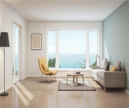 Amazon.com : AOFOTO 12x10ft Modern Living Room Background Seaview ...