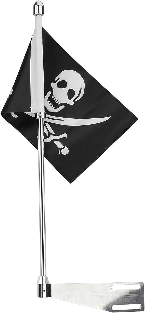 Bruce & Shark Negro Pirata Bandera de Soporte de la Antena ...