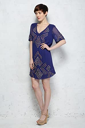 455d83a710e French Connection Confetti Grid Sequin Dress (Size 14): Amazon.co.uk:  Clothing