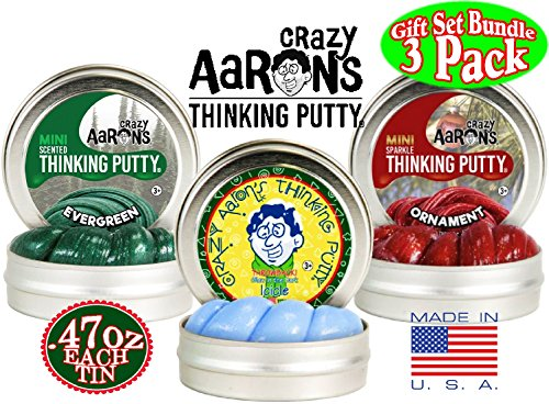 Crazy Aaron's Thinking Putty Mini Tins Holiday (Christmas)