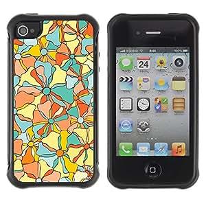 Suave TPU GEL Carcasa Funda Silicona Blando Estuche Caso de protección (para) Apple Iphone 4 / 4S / CECELL Phone case / / Fabric Texture Floral Flowers /