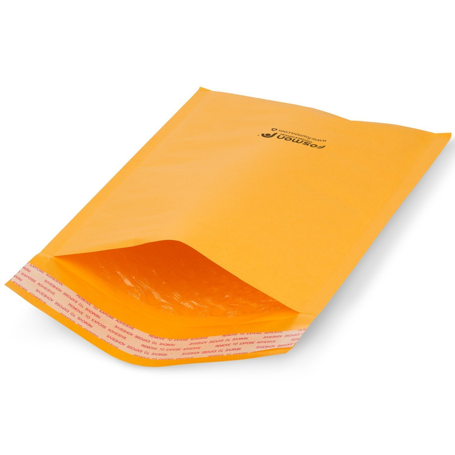 Fosmon #0 Kraft Bubble Mailer 6.5 x 10, Extra Wide Padded Shipping Envelopes, (600 Pack)