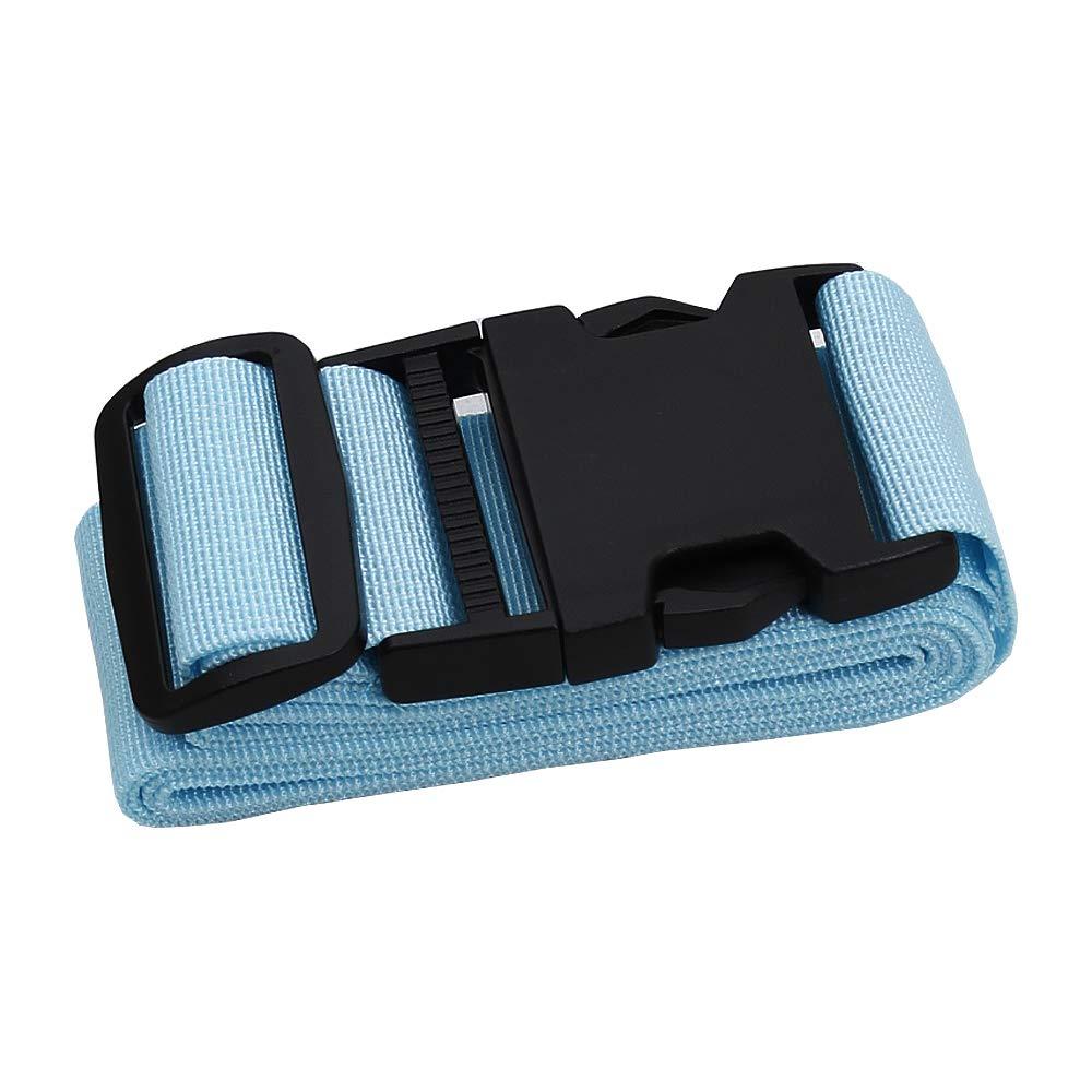 Adjustable Travel Luggage Strap Nylon Suitcase Belt Luggage Tage Set to Keep Your Luggage Organized and Secure Rose red 43-78 Adjustable