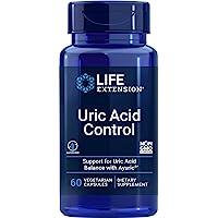 Life Extension Uric Acid Control, 60 Vegetarian Capsules