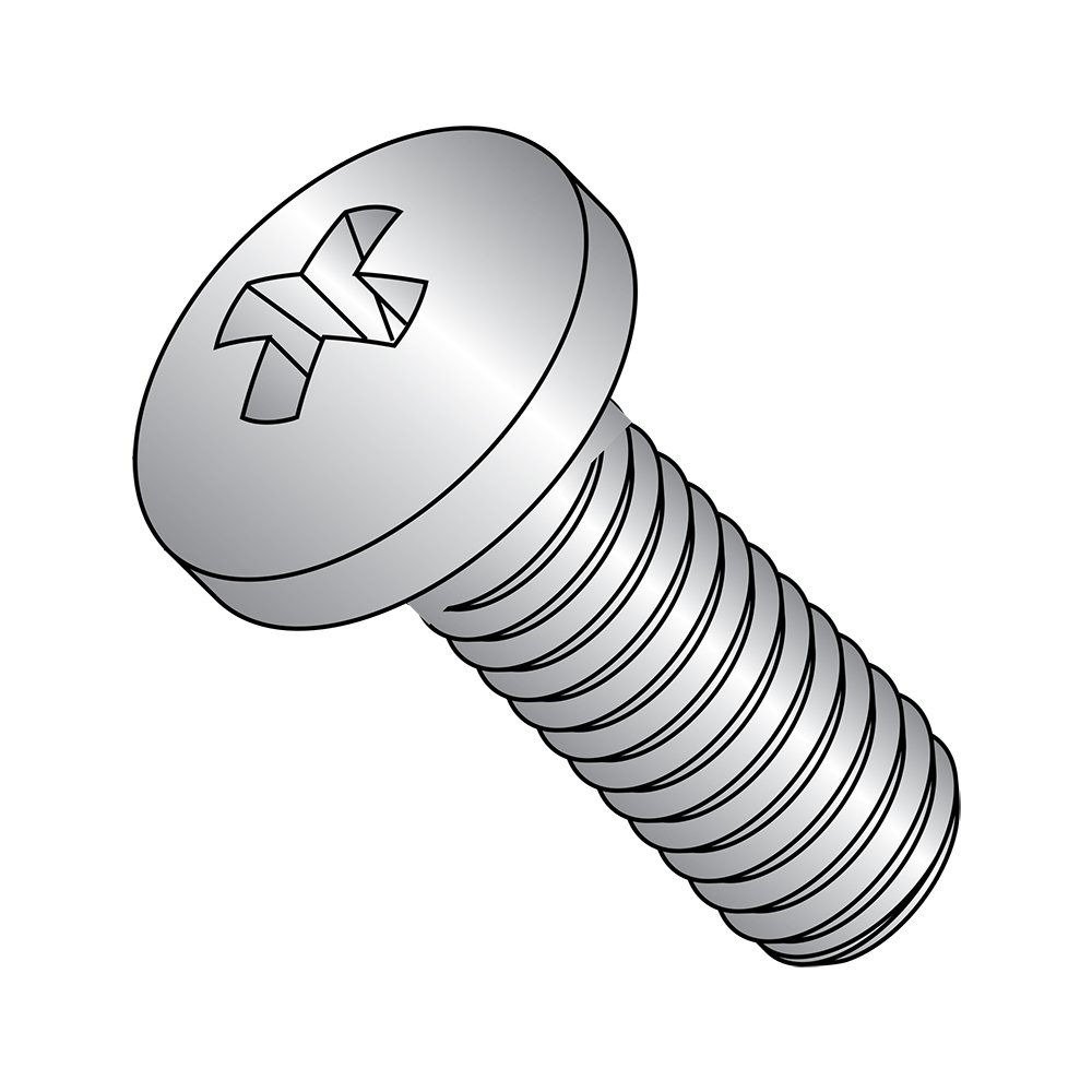 Meets ASME B18.6.3 3//8 Length Import #2 Phillips Drive Fully Threaded Pack of 50 #8-32 Thread Size 410 Stainless Steel Pan Head Machine Screw