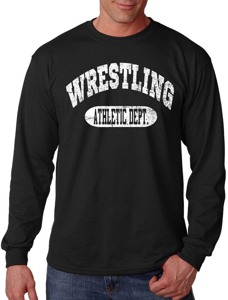Interstate Apparel Inc Men's Wrestling Athletic Dept. Black Long Sleeve T-Shirt Large Black