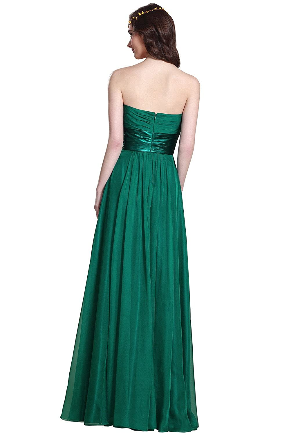 Amazon.com  Strapless Dark Green Bridesmaid Dress Evening Gown (07151404)   Clothing 79b8e80b6