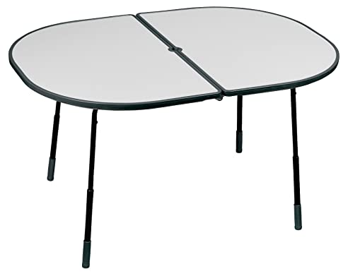 Gartentisch klappbar wetterfest  Lafuma Ovaler Gartentisch, 128x90 cm, Klappbar, Höhenverstellbar ...