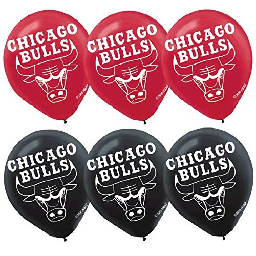 Chicago Bulls NBA Collection Printed Latex Balloons, Party Decoration