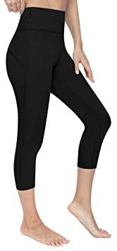 Vutru Women's Yoga Capri Pants Tummy Control Workout Running Yoga Leggings W Pockets by Vutru