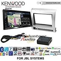 Volunteer Audio Kenwood DNX574S Double Din Radio Install Kit with GPS Navigation Apple CarPlay Android Auto Fits 2005-2011 Toyota Tacoma with Amplified System (Silver)