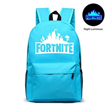 KOBWA Fortnite Mochila Luminosa Battle Royale - Mochila Escolar para portátil Fortnite Galaxy, para Adolescentes, niños y niñas, Lake Blue: Amazon.es: ...