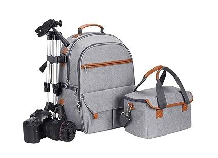 Mochila para cámara de Fotos, Impermeable y Ligera, Compartimento ...