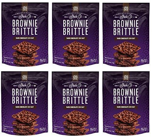 (Brownie Brittle, 5 oz, Dark Chocolate Sea Salt (Pack of 6))
